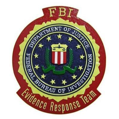 fbi evidence response team replacement seal plaque