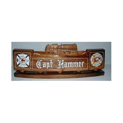 fire department desk nameplate natural