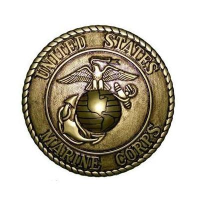 marine corps seal coin plaque gold