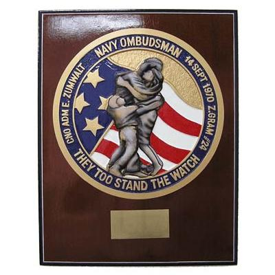 navy ombudsman presentation plaque
