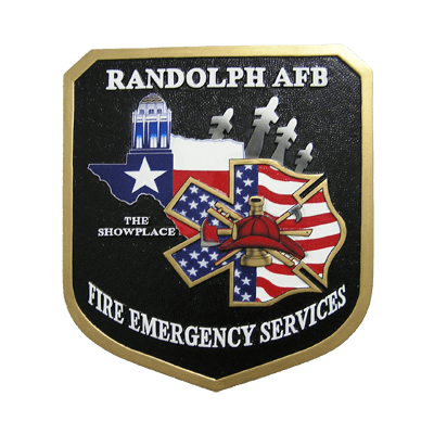 randolph afb fire emergency services plaque
