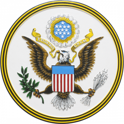 the great seal of the usa plaque