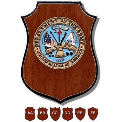 us military department plaque shield design