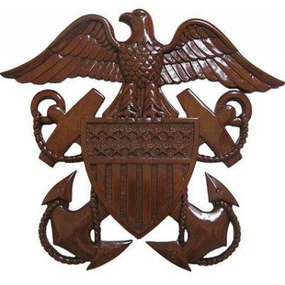 us navy officers crest insignia plaque