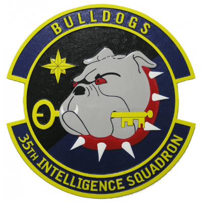 usaf 35th intelligence squadron plaque