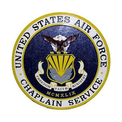 usaf chaplain service seal plaque