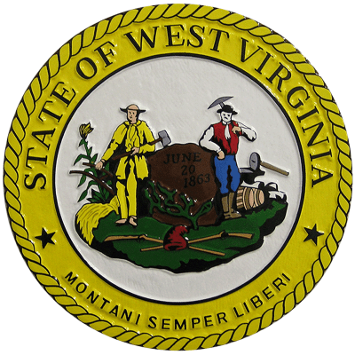 west virginia state seal plaque