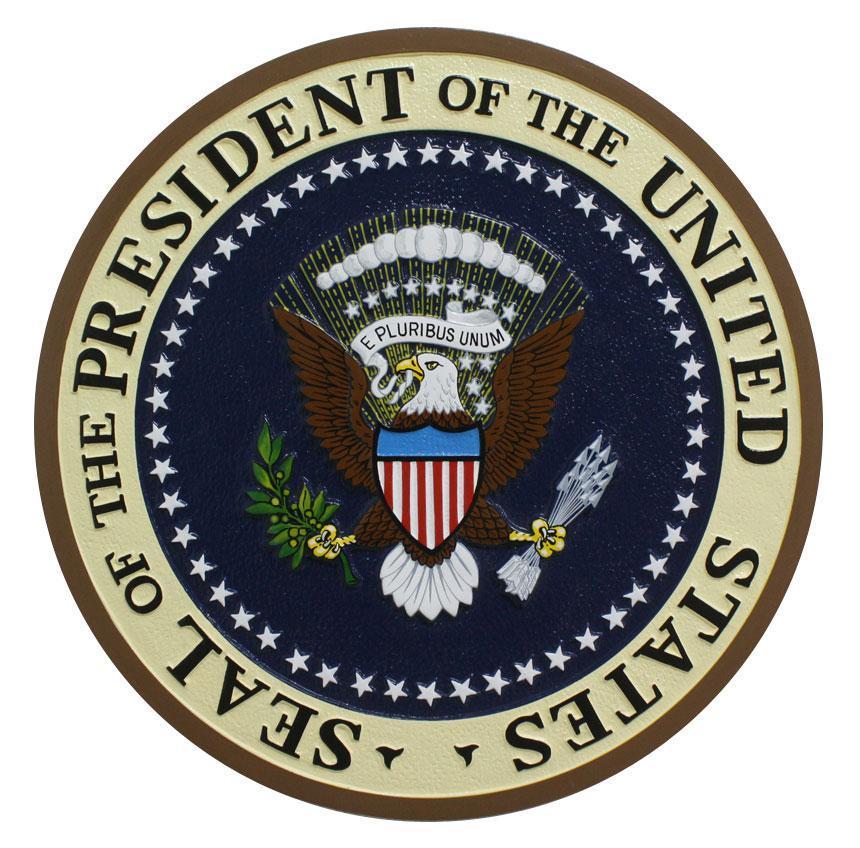 us presidential seal podium plaque
