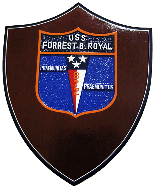 USS Forrest B. Royal Presentation Plaque