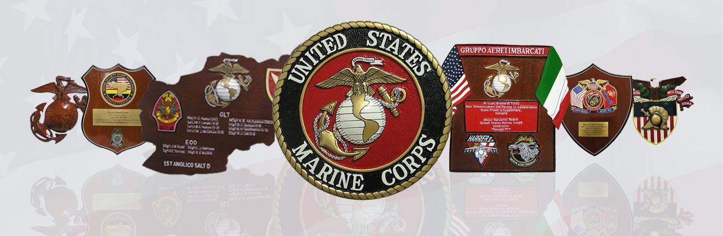 United State Marine Corps Plaques
