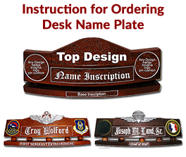Instruction for Ordering Desk Name Plate
