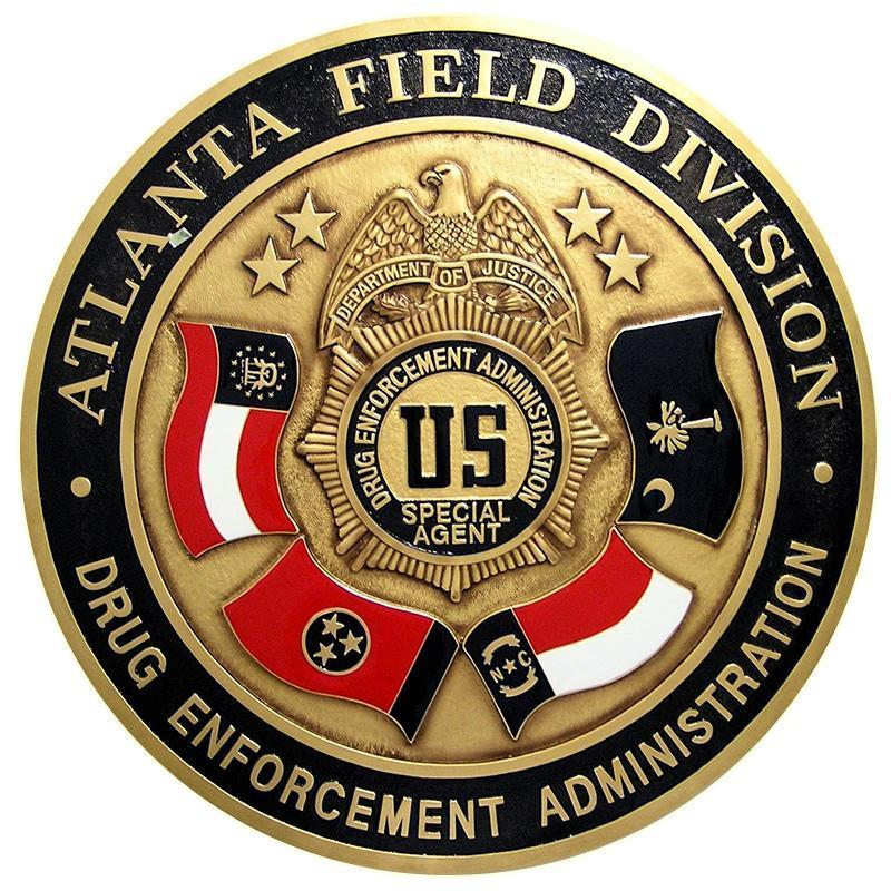 Drug Enforcement Administration (DEA) Atlanta Field Division Special Agent Plaque, Badge Plaque