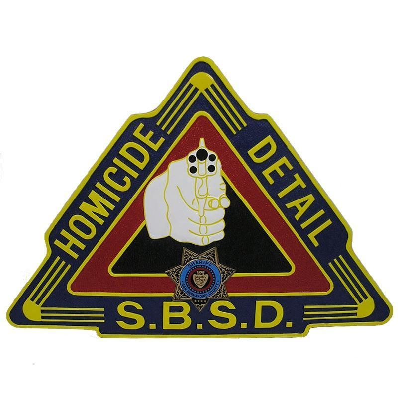 San Bernardino County Sheriff's Department SBSD Homicide Detail Custom-made Wall Plaque